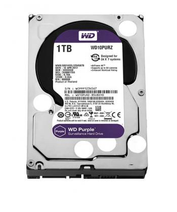 Ổ Cứng HDD Camera WD Purple 1TB - IntelliPower, SATA3